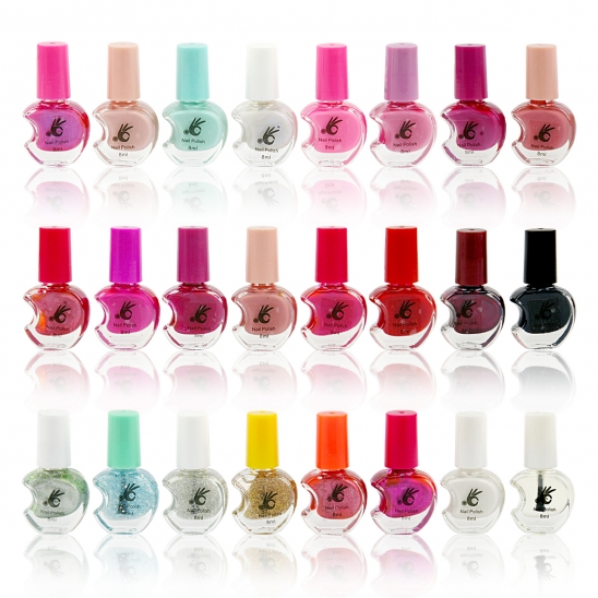 24 Nail Polish Set Bright Colours