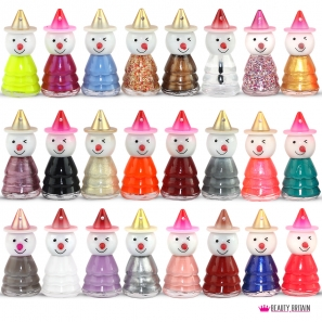 24 Snowman Shaped Nail Polish Set
