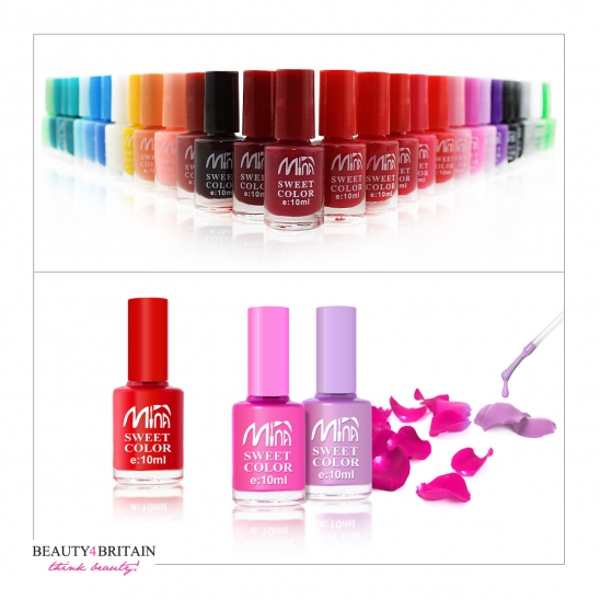 30 Nail Polish Set Mina (25+ Bright Colours)