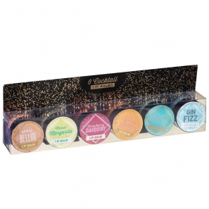 6 Cocktail Lip Balm Set 6 Flavours