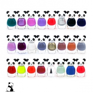 24 Cute Nail Polish Set Panda Shaped