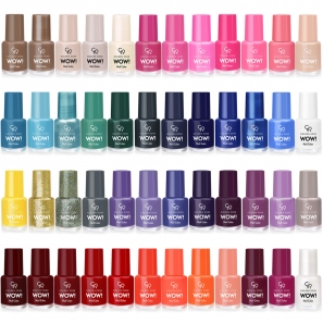12 Nail Polish Set Wow! Golden Rose